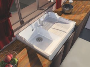 Timbre d'office - Evier - Rétro - Baroque - Grand siècle - Brocante - Campagne - Sink - Ceramic - Belfast - Cuisine - Kitchen sinks - Traditionnel - Vintage - Direct évier - Grès - Kitchen farmerhouse sink in fireclay - évier de cuisine